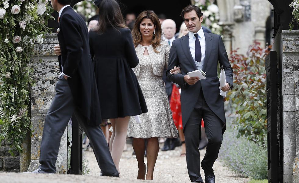 Roger Federer e sua esposa Mirka